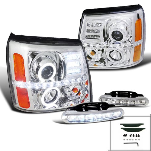 Escalade Chrome Projector Headlights Bumper