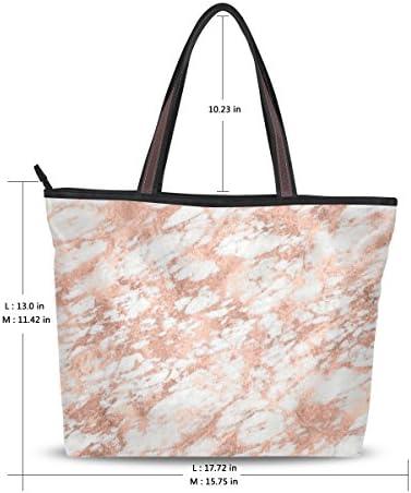 WIHVE Marble Pattern Texture Womens Tote Bag Top Handle Satchel Handbags Shoulder Bags
