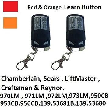 Amazon Com 970lm Chamberlain Liftmaster Garage Door Opener Mini Remote Control 390mhz 2pk Home Improvement