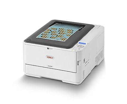 OKI C332dnw - Impresora Color A4 con tecnología LED, Duplex, Velocidad de impresión 26/30 páginas, Color Blanco