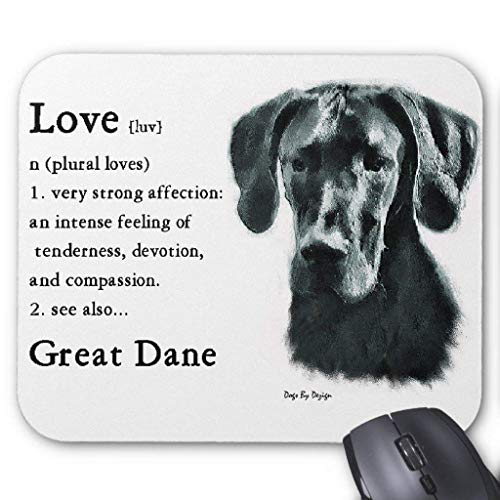 Great Dane Mouse Pad 7.08X8.66 inches/18X22 cm,Non-Toxic Design (Great Dane Natural)