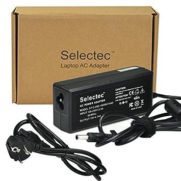 Selectec 19V 4.22A/4.74A, 5.5*3.3mm Cargador Adaptador Fuente de Alimentación para Ordenador Portátil como un Reemplazo Adaptador para Samsung GT Serie ...