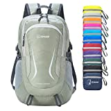 ZOMAKE Ultra Lightweight Hiking Backpack - Packable Durable Water Resistant Travel Backpack Daypack for Women Men(Gray)