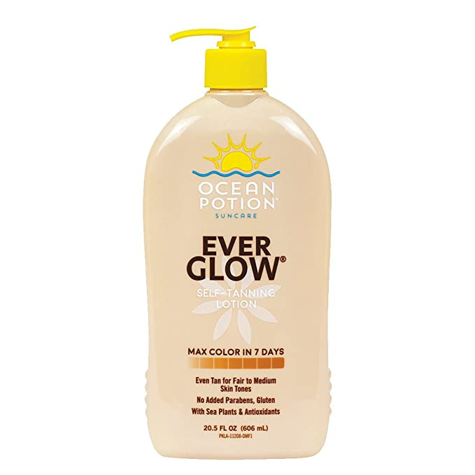 Amazon Com Ocean Potion Ever Glow Self Tanning Lotion 20 5 Ounce Beauty