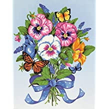 Dimensions Needlecrafts Paintworks Paint By Number, Pansy Bouquet