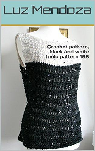 Crochet pattern, black and white tunic pattern - Tunic Whites