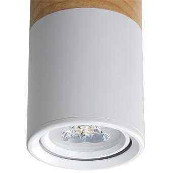 Wood Downlight LED Lights 3W Living Room 90-260V Lámparas de techo LED de ángulo