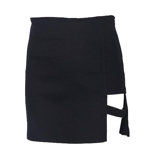 2323d35ee9 Padory Women Package Hip Skirts Gap Irregular Hem Pencil Micro Mini ...