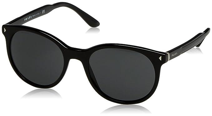 Amazon.com: Prada 06ts 1 ab5s0 Negro 06ts Ronda anteojos de ...
