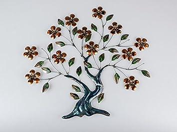 B/u0026B Wand Dekoration Baum 71cm Braun Eisen Wanddeko Baumdekoration