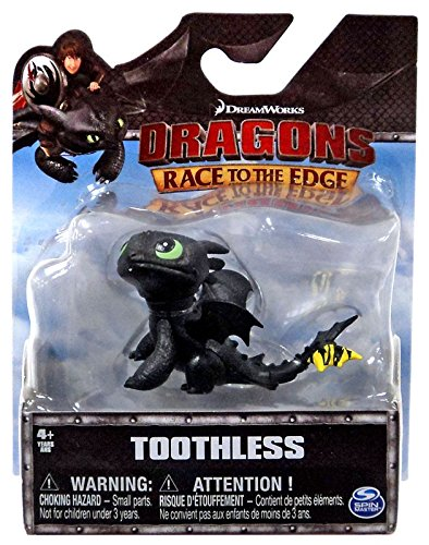 (Dreamworks Dragons Toothless Action Figure (Sitting) 2 Inches)