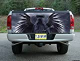 T06 GRIM REAPER SKULL WINGS TAILGATE WRAP Vinyl Graphic Decal Sticker F150 F250 F350 Ram Silverado Sierra Tundra Ranger Frontier Titan Tacoma 1500 2500 3500 Bed Cover tint image