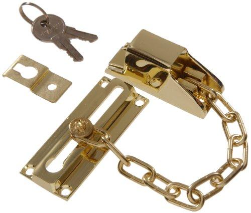 Hillman Hardware Essentials 852232 Keyed Lock Door Chain ()