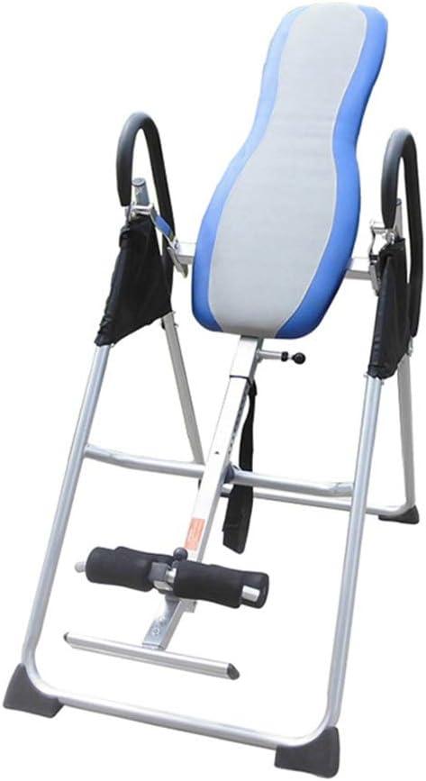 逆さぶら下がり インバージョンTable Pro Fitnessカイロプラクティックテーブル運動バック 腹筋トレーニング 健康 (色 : 青, サイズ : 120*72*150cm) 青 120*72*150cm