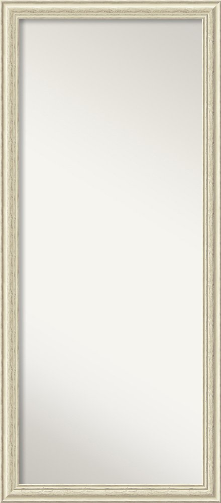 Amanti Art Floor/Leaner Mirror, Country White wash Wood