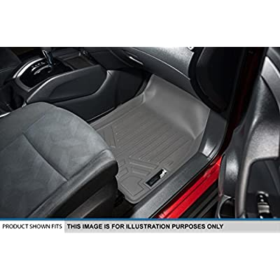 MAXLINER Floor Mats 3 Row Liner Set Grey for Traverse/Enclave/Acadia/Outlook with 2nd Row Bucket Seats: Automotive