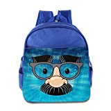 ELF STORY - Eye Glasses Fake Nose Mustache Disguise Little Kid Baby Boys Girls Toddler Backpack Bag RoyalBlue