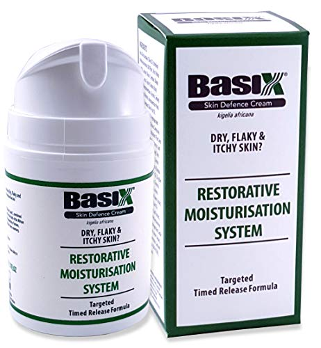 Basix Skin Defence Repair Cream Dry Flaky Itchy Skin Soothes Eczema Psoriasis Dermatitis Acne Bed Sores Ulcers All Natural Anti-Bacterial Anti-Septic Anti-Viral Anti-Inflammatory LOMBARDI SMITH 1.7fl ()