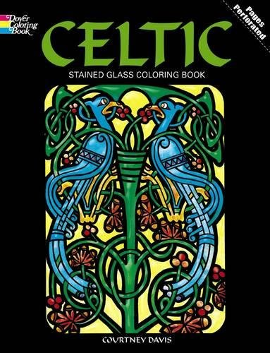 celtic stained glass coloring book dover design stained glass coloring book courtney davis 9780486274560 amazoncom books - Celtic Coloring Book