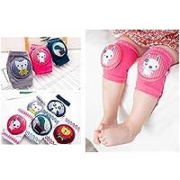5 Pairs Baby Girls Boys Lovely Kneepads Anti Slip Knee Protective & Breathable Elastic Sponge Kneepads Kids Socks for Baby Crawling (Boy)