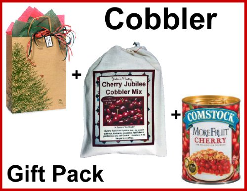 Cherry Cobbler Mix, with Fruit, in a Gift Bag by Julia's Pantry