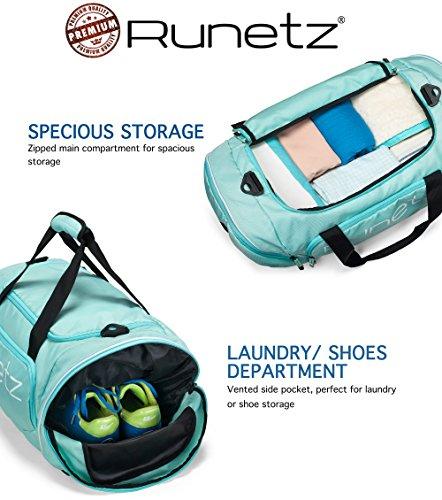 Runetz - Extra Large TEAL Hot Blue Gym Bag Sport Shoulder Bag for Men    Women 32d372efc9