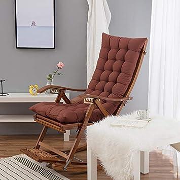 coffee Lounger Cushion,Recliner Cushion Garden Chair Cushion Seat Cushion Back Cushion High Back Cushion with Ties Chair Pads for Garden Chair and at Home Soft Foam Washable