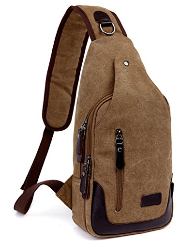 Canvas Classic Belt (Canvas Chest Pack Crossbody Bag Classic Fashion Vintage Canvas Casual Chest Bag Rucksack Hold Iphone, Ipad and)