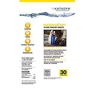 Katadyn Micropur Water Purification Tablets 8013692 (30-pack)