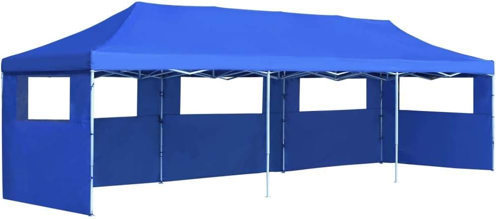 vidaXL Carpa Plegable Pop-up con 5 Paredes 3x9m Azul Toldo Cenador Marquesina: Amazon.es: Hogar