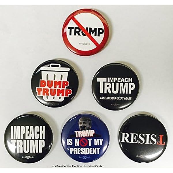 "3/"" Large ButtonsExclusive 2 Buttons SetDitch Mitch Dump Trump"