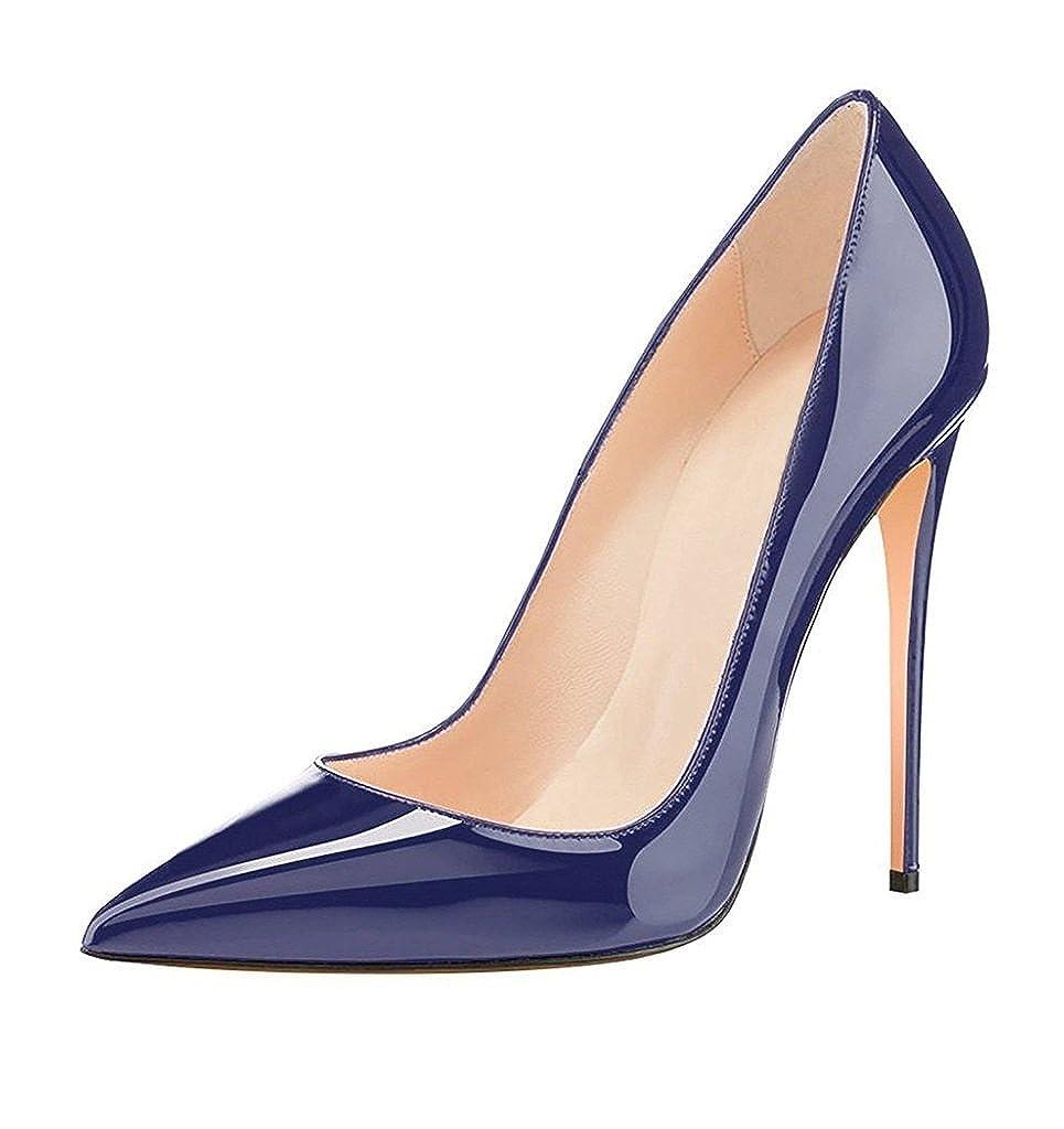 EDEFS Damen Stilettos High Heels Damenschuhe Übergröße Spitze Zehen Pumps
