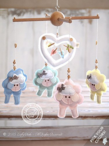 Amazon colorful sheep baby mobile personalized baby gift 2 colorful sheep baby mobile personalized baby gift 2 day fedex delivery to usa negle Choice Image