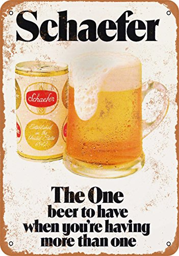 Wall-Color 7 x 10 METAL SIGN - 1975 Schaefer Beer - Vintage Look Reproduction