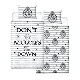 HARRY POTTER Duvet Cover, Grey, 135 x 200 cm