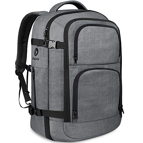 - Dinictis 40L Flight Approved Travel Backpack, Waterproof Business Carry on Backpack fit 15.6 Inch Laptop, Durable Weekender Bag for Men and Women (Dark Grey)