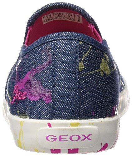 Geox Jr Kilwi Girl, Zapatillas Niñas Azul (Denim C4008)