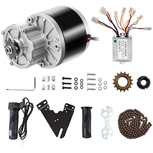 VEVOR Elektrische motor met borstel, 24 V, 250 W, perfect voor elektrische scooters, elektrische fietsen, elektrische…