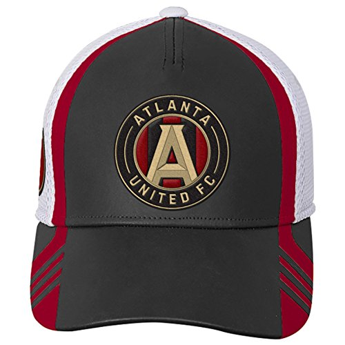 - Outerstuff MLS Atlanta United R S8FMM Youth Boys Structured Flex Hat, One Size (8), Victory Red