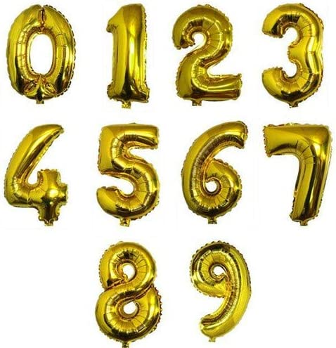 ASDSH ちょうど良い大きさ 数字バルーン ゴールド 誕生日 ウェディング パーティーに (0)