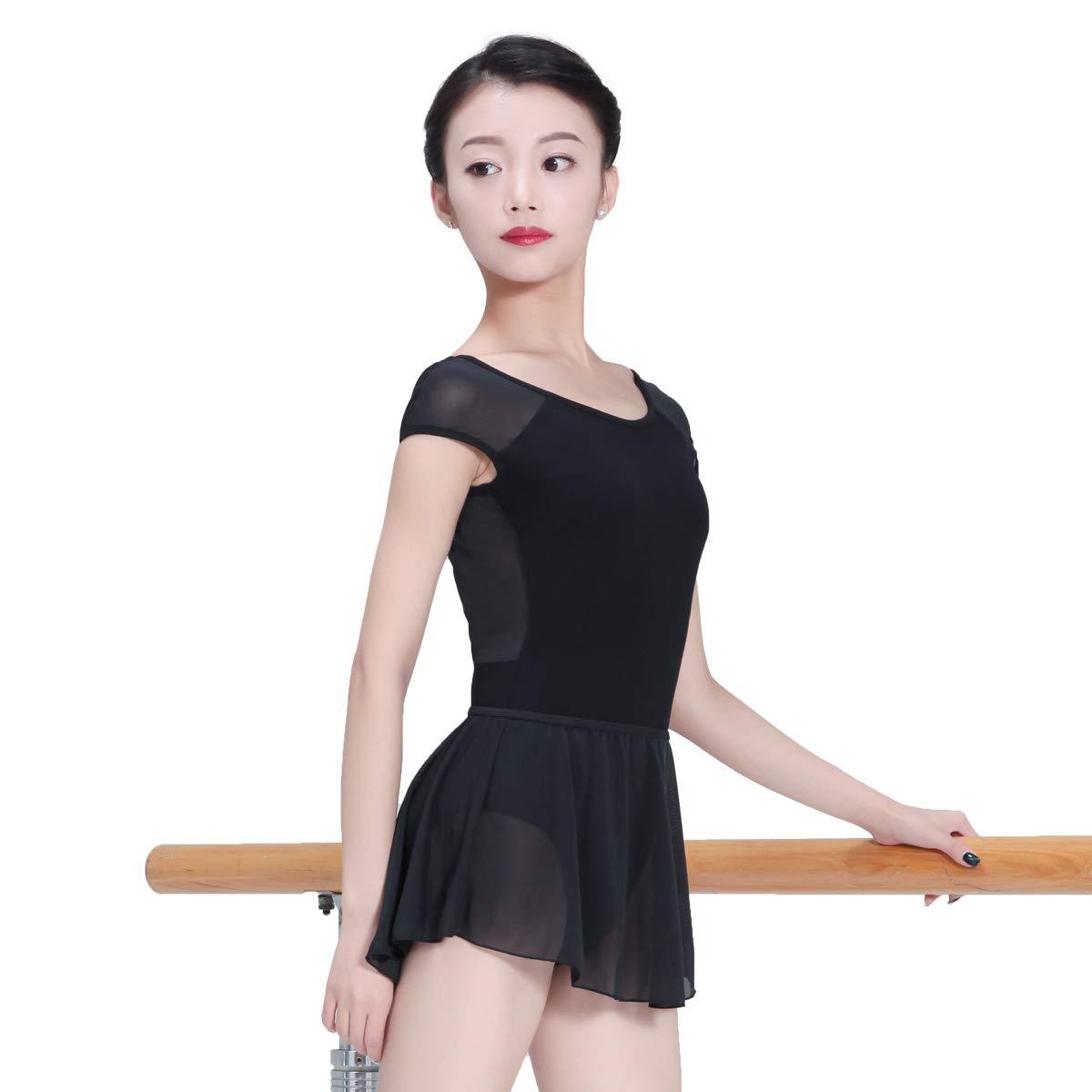 : 118141007 Ballerina Cap Sleeve Ballet leotards V