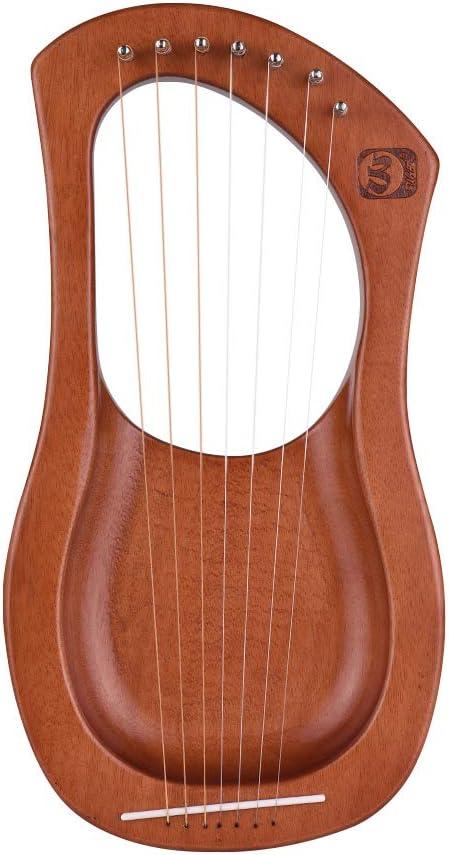ammoon Lyre Harp 7 Corde Lira Arpa Pianoforte Filo DAcciaio Corde Corpo In Compensato Mogano Impiallacciatura Mogano Strumento A Corde Topboard Con Borsa Per Il Trasporto