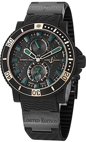 Ulysse Nardin Marine Diver Chronometer Black Sea Men's Automatic Limited Edition Watch 263-92LE-3C/928-RG - 92 Automatic Rose