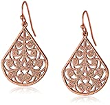 1928 Jewelry Rose Gold-Tone Vine Filigree Earrings