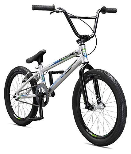 Mongoose Title Pro BMX Race Bike for Beginner to Intermediate Riders, Featuring Lightweight Tectonic T1 Aluminum Frame and Internal Cable Routing with 20-Inch Wheels, Silver (Best Bmx Bike Ever Built)