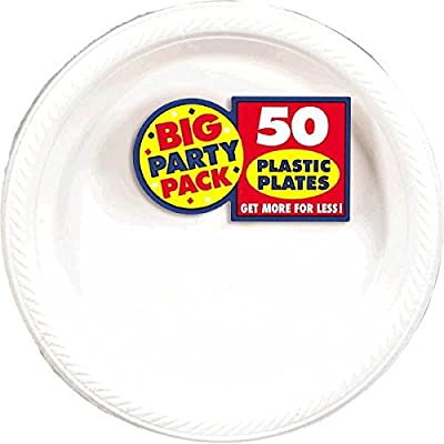 Big Party Pack Frosty White Plastic Plates | 10.25"