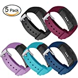 light blue contacts - Gear Fit2 Pro/ Fit2 Bands 5-Packs, GHIJKL Silicone Replacement Strap for Samsung Gear Fit 2 & 2 Pro Tracker (5-Pack Black\Teal\Wine Red\Light Purple\Slate Blue)