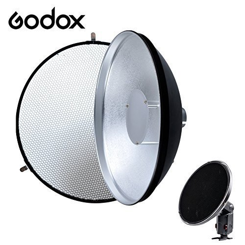 Godox AD-S3 Portable Beauty Dish + Honeycomb Cover For Speedlite Flash AD180 AD360 II
