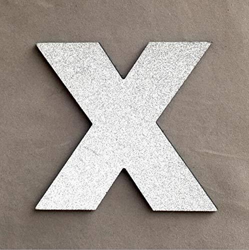 Pared Pegatina 3d Shine Silver Capital Inglés Letras Pared ...