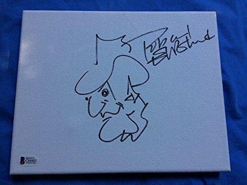 Robert Englund autographed Freddy Krueger Sketch 8x10 Canvas The Nightmare on Elm Street Beckett Authenticated